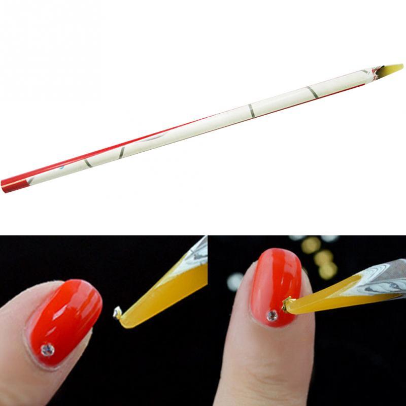 1pc Pro Rhinestone Picker Gel Diamonte Nail Art Tips Uses Manicure Pedicure Tool Pink