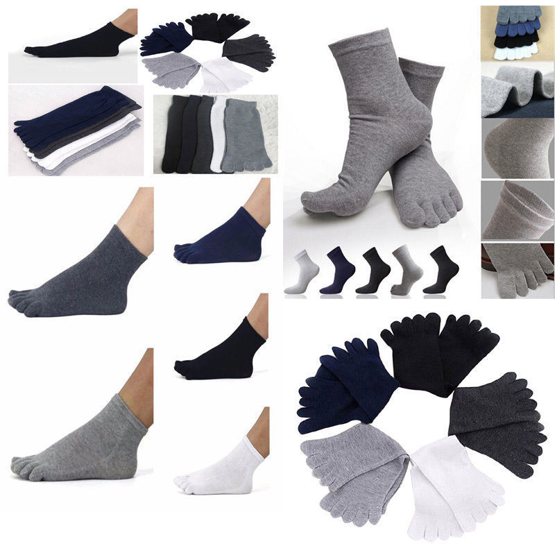 Women Men's Breathable Comfortable Compression Comfort 5 Finger Toe   Socks