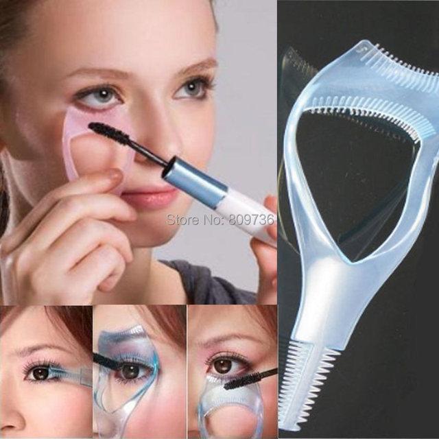 1 PC Fashion 3 em 1 Atacado Lote Mascara Cílios Escova Curler Lash Comb Cosméticos accoriess