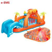 Inflatable Volcanic With Sliding Board Water Spray Swimming Pool Children Cassia Seed Pool Thicken Sea Ball Pool G2049