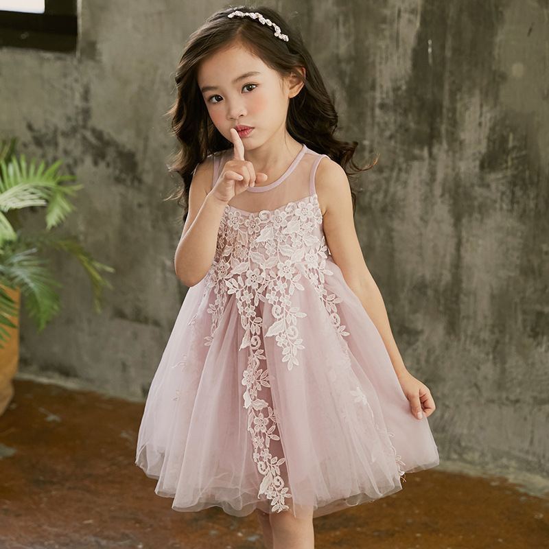 New 2018 Flower Girl Party Dress Baby Birthday Tutu Dresses for Girls Lace Baby Vest Baptism Dresses Kids Wedding Dress CC919 new 2018 flower girl party dress baby birthday tutu dresses for girls lace baby vest baptism dresses pearls kids wedding dress
