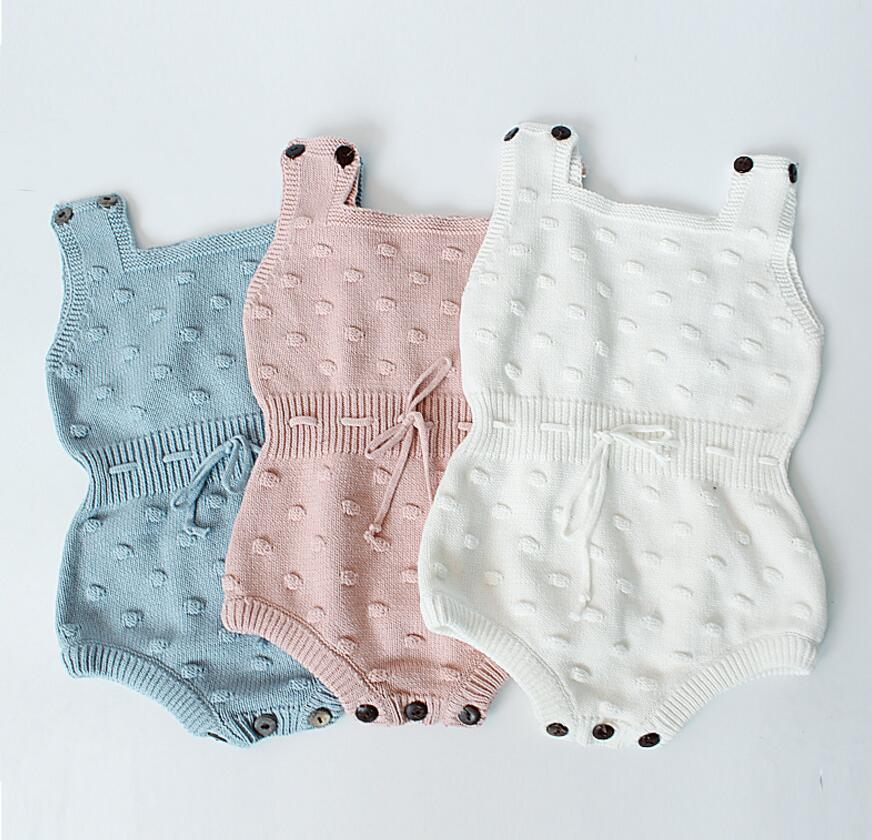 Ins Explosion Models 2019 Autumn Handmade Sweater Baby Knitted Jumpsuit Children Warm Clothing Fashion Wool