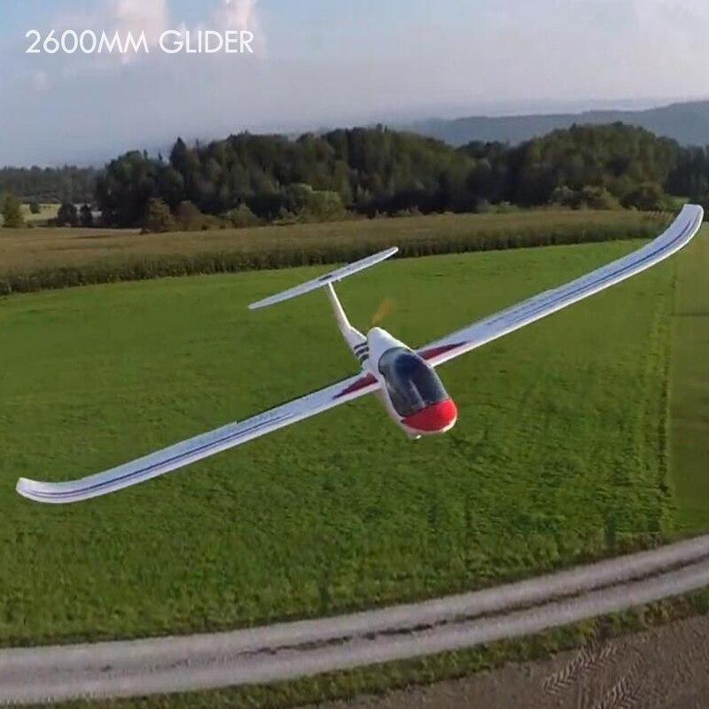 KIT+ motor glider RC Airplane 2600mm FPV glider remote control air plane hobby model aeromodeling electric radio planescontrole fpv x uav talon uav 1720mm fpv plane gray white version flying glider epo modle rc model airplane
