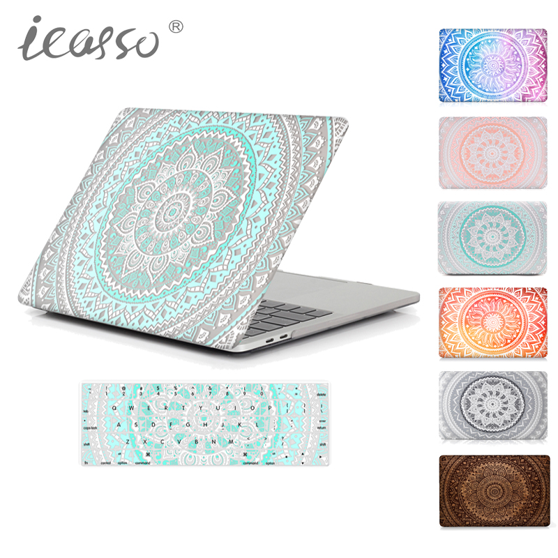 icasso Mandala Matte Case For Apple Macbook Air 13 Case Air 11 Pro 13 Retina 12 13.3 15 Laptop Bag For Mac Book Pro 13 Case 2017 newest hot sleeve case bag for macbook laptop air 11 12 13 pro retina 13 3 protecter wholesales drop free shipping