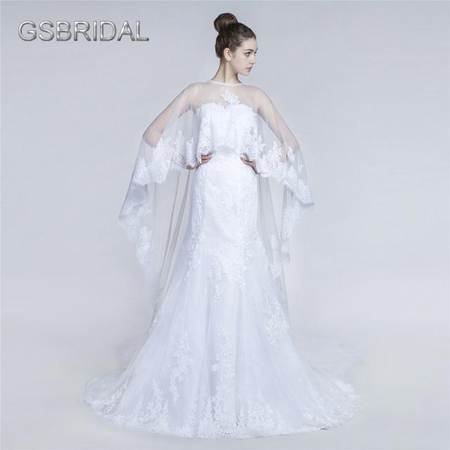 GSBRIDAL Two In One Lace Border Bridal Wedding Gown-in Wedding ...