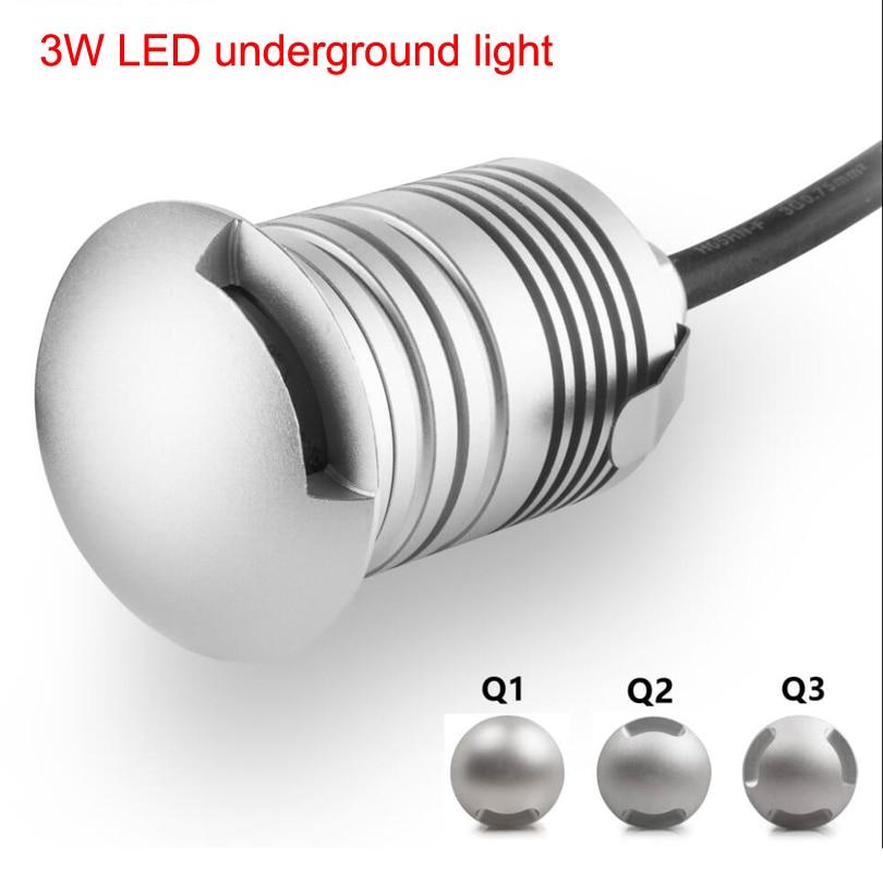 Led Underground Lamps Honest 10pieces/lot Stainless Steel Waterproof Ip67 Led Garden Underground Light Round 12v 3w Led Floor Lamp For Outdoor Lighting Lights & Lighting