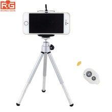 3in1 mini ขาตั้งกล้อง, ขาตั้งกล้อง + Bluetooth รีโมทคอนโทรลชัตเตอร์ + คลิปโทรศัพท์สำหรับ iPhone ของ Apple 6 วินาที 6 Plus 5 วินาที 5