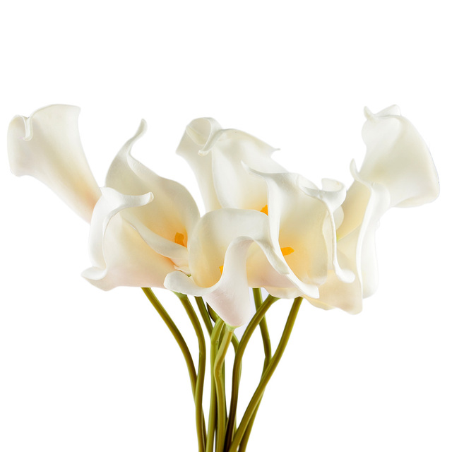 SURWISH 1Pcs High Simulation Bouquets Artificial PU Calla Lily ...