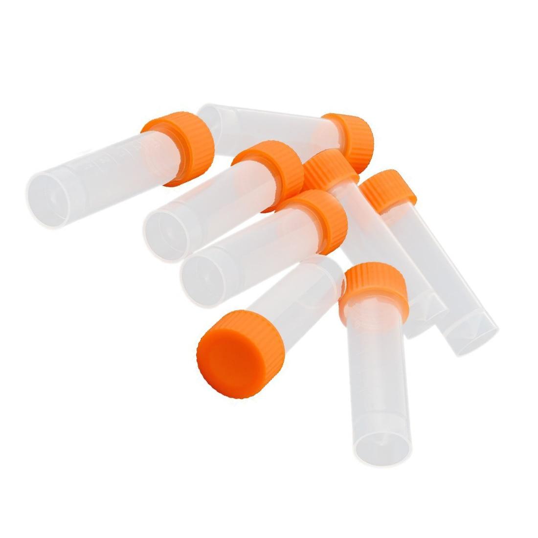 10 Pcs 5ml Conical Bottom Graduated Plastic Vial Tube