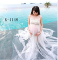 Sleeveless Solid Maternity Photography Props White Lace Pregnancy Dress Long Maternity Dress for Photo Shoot