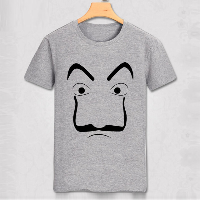 fadae00aa Salvador Dali Mask T-shirt Money Heist The House of Paper La Casa De Papel  Cosplay Halloween Tokyo Rio Professor Oslo Tee Shirt