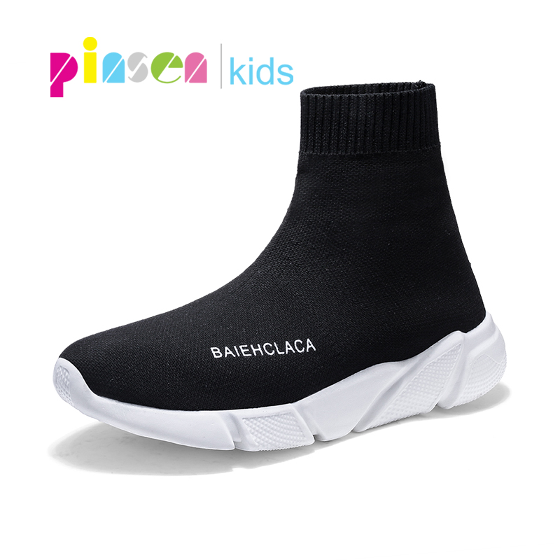 Children Shoes For Girls Boys Shoes Kids Sneakers Lightweight Mesh Breathable Socks Shoes Sneaker For Boys School Shoes Hot INS