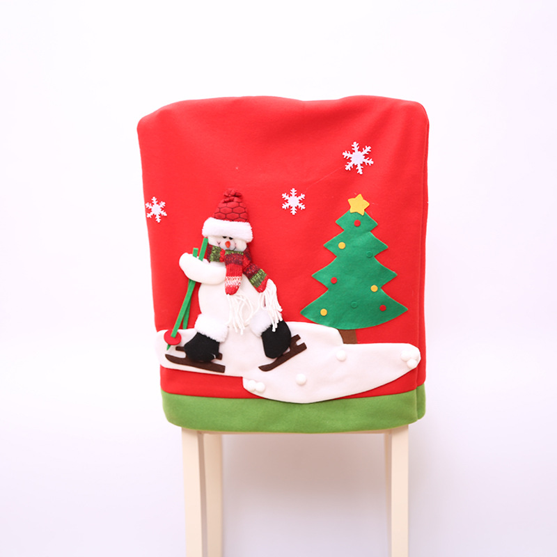 Christmas Hat Party Part - 36: 2017 Santa Claus Christmas Chair Cover Set Skiing Style Event Xmas Party  Christmas Hat For Chair Dinner Chairs Corving Set-in Chair Cover From Home  U0026 Garden ...