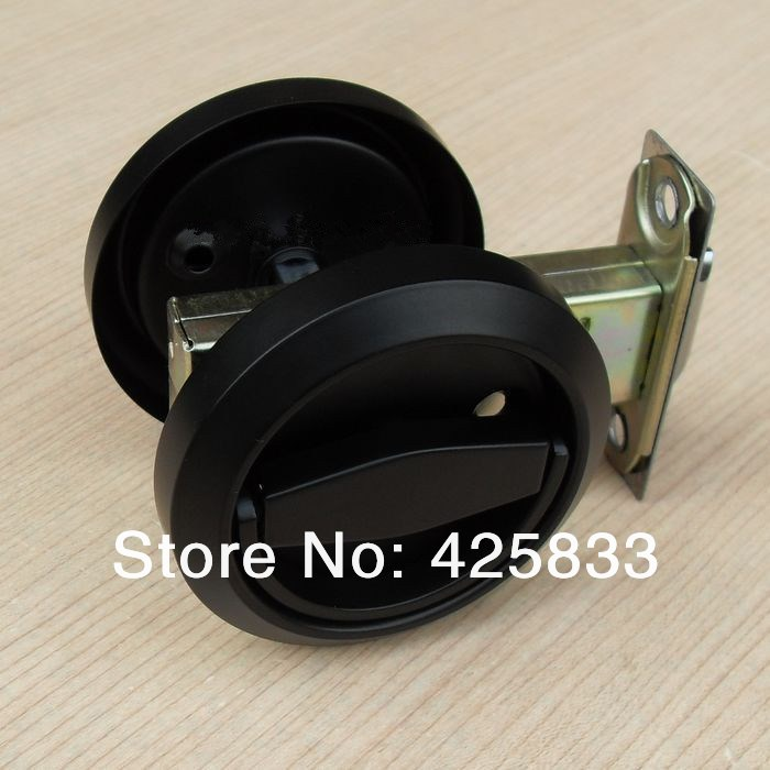Fashion Black Stainless Steel Recessed Hood Lock Cup Handle Hidden