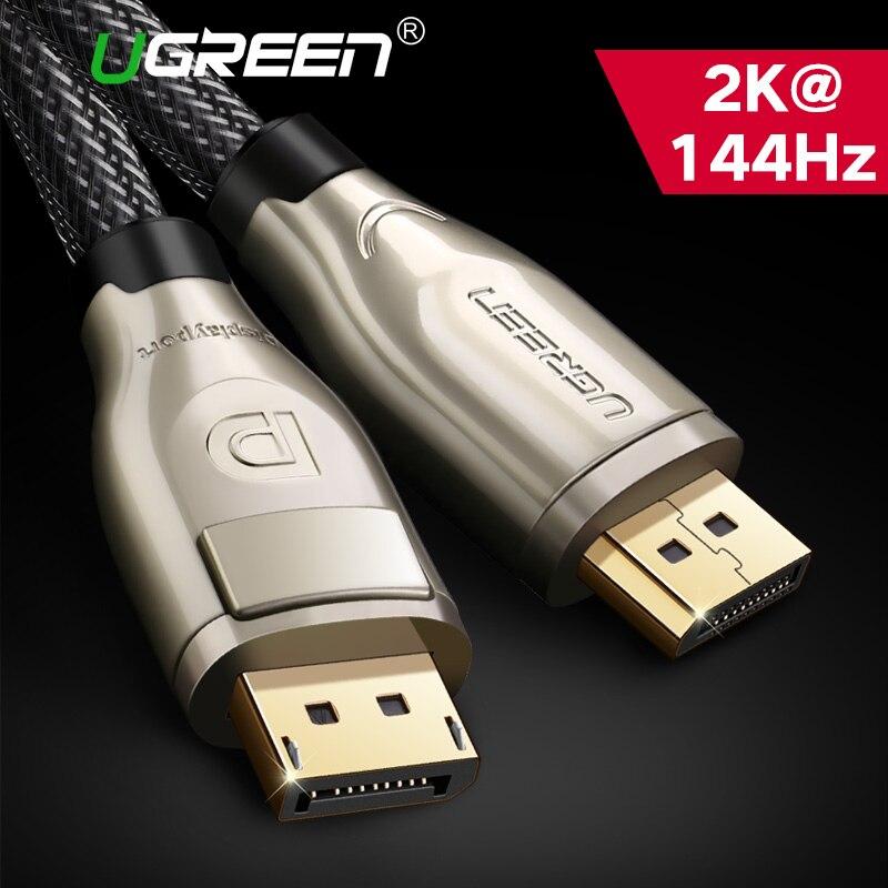 Ugreen Cabo Display Port DisplayPort Cabo de 144 hz 1.2 hz 60 4 k Para HDTV Projetor Cartão De Gráficos DisplayPort para cabo DisplayPort