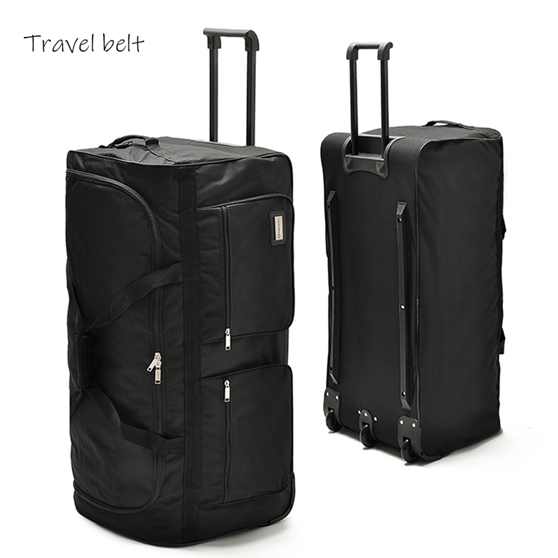 Large Capacity, High Quality Oxford 32/40 Inch Rolling Luggage Spinner Men Business Suitcase Wheels Carry On Travel Bags