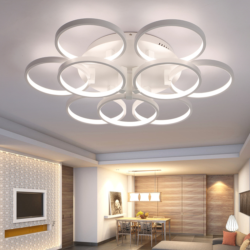 super thin circel rings modern led ceiling chandelier lamp. Black Bedroom Furniture Sets. Home Design Ideas