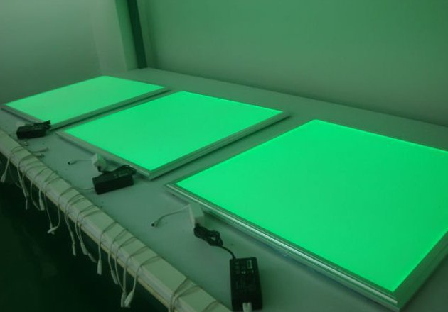 Free Shipping Hot Selling 620X620mm RGB Color LED Panel Light with Remote Control Aluminum+Light Guide Plate Material free shipping 600x600mm 36w rgb color led panel light with remote control aluminum pmma smd5050 super bright led chips