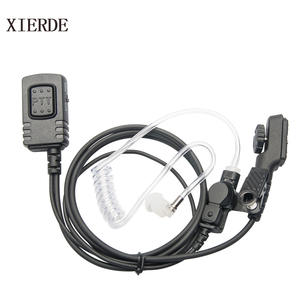 for Walkie Talkie Hytera HYT PD780 Air Tube Headset Earpiece Mic PD700 PD700G PD702G PD705G PD752 PD782 PD785 PD785G PT580H