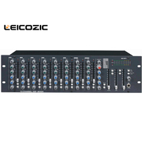 Leicozic Professional mixing console dj console Audio Mixer MU10FX 10 Ch dsp mixer sound system pro audio musical instruments