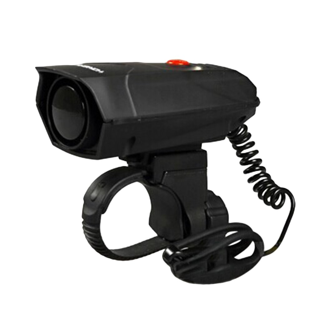 black Electronic Bike Bicycle Handlebar Ring Bell Horn Super Loud Cycling Riding Safety Bell Sound Horn with battery