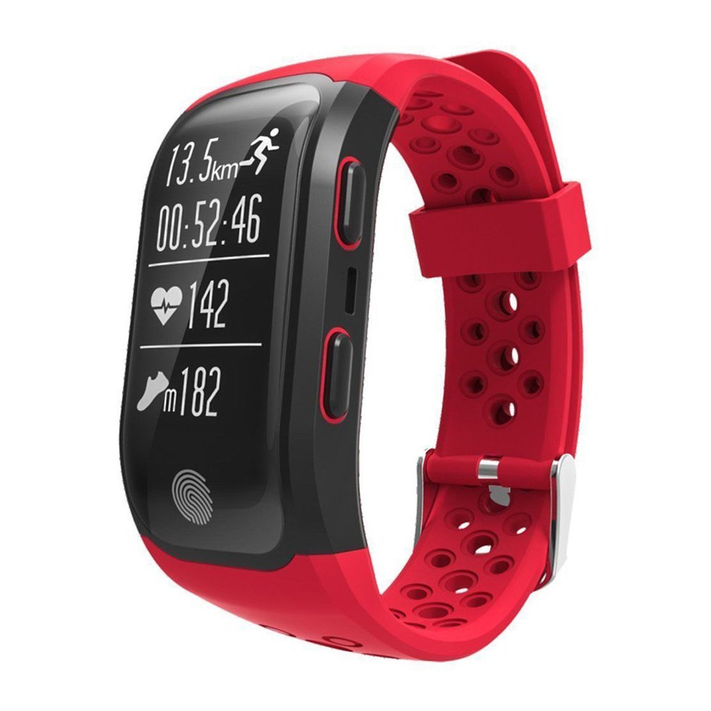 купить S908 GPS Smart Bracelet IP68 Waterproof Heart Rate Sleep Monitor Fitness Pedometer Sport Tracker Wristband Smartwatch по цене 2814.53 рублей