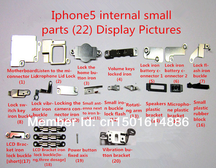 Free Shipping Original For Iphone5 All Internal Small Parts 22