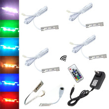 shelf lighting strips. 4x led under cabinet light for glass edge shelf back side clip clamp strip lighting with wiress rf remote controladapter rgb 2w strips s