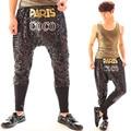 New Nightclub Bar 2 Style Male DJ Singer Hanging Crotch Pants Hip-Hop Sequins Harem Pants Men Show Stage Performance Trousers
