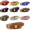 Diseño cómodo Breves Cinturones Cinturones de piel de Cerdo Ajustable Helado Sólido Mujeres Correas de Cintura