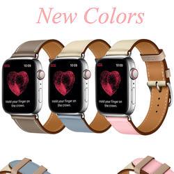 Кожаный ремешок для Apple watch 4 44 мм 40 мм диапазона Iwatch 3/2/1 Корреа aplle watch 42mm 38 мм браслет ремень новый один браслет, посвященный концертному туру