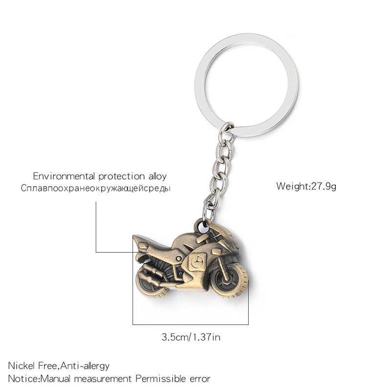 1 шт. мотоциклетный брелок колцо для ключей металлический брелок Motocrossfor Harley Honda модель yamaha Шарм для брелоков