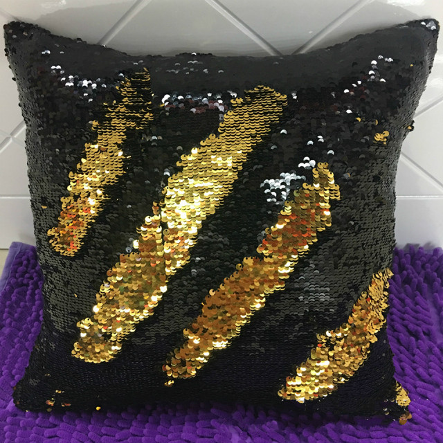 reversible sequin mermaid sequin pillow home decor cushion cover