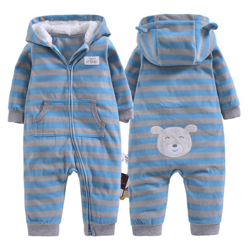 38098a5ce2f3 Autumn   Winter Newborn Infant Baby Clothes Fleece Jumpsuit Boys ...
