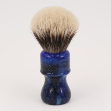 24MM Yaqi Mysterious Space Color Handle Två Band Badger Hair Knot Men Shaving Brushes