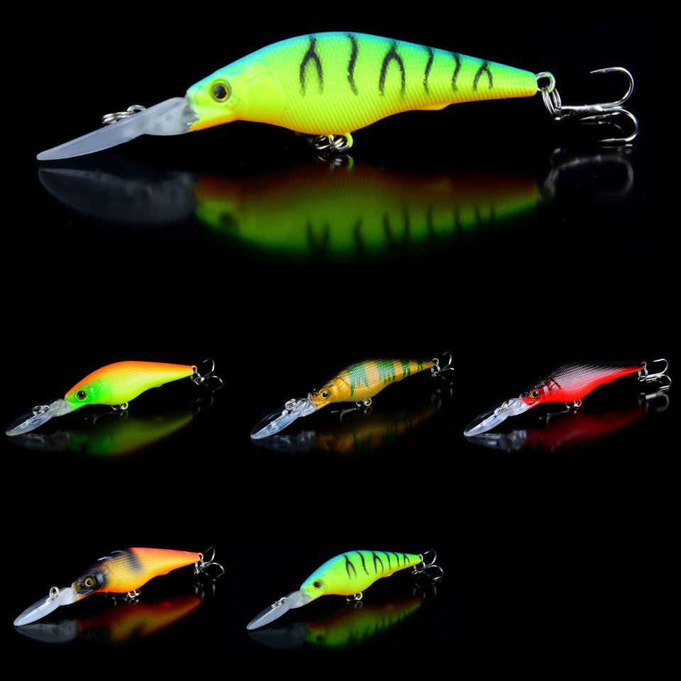 1pcs 9cm/6.5g Fishing Luers 5 Colors Hard Baits 3D Eyes With 6# Hooks Artificial Plastic Fake Bait Bass Wobblers Fishing Tackle 30pcs set fishing lure kit hard spoon metal frog minnow jig head fishing artificial baits tackle accessories