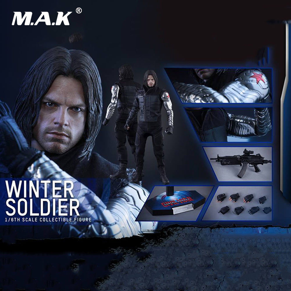Collectible Model Toys 1/6 Scale MMS351 Full Set Male Captain America Civil War Winter Soldier Action Figure Model Toys captain america civil war iron man 618 q version 10cm nendoroid pvc action figures model collectible toys