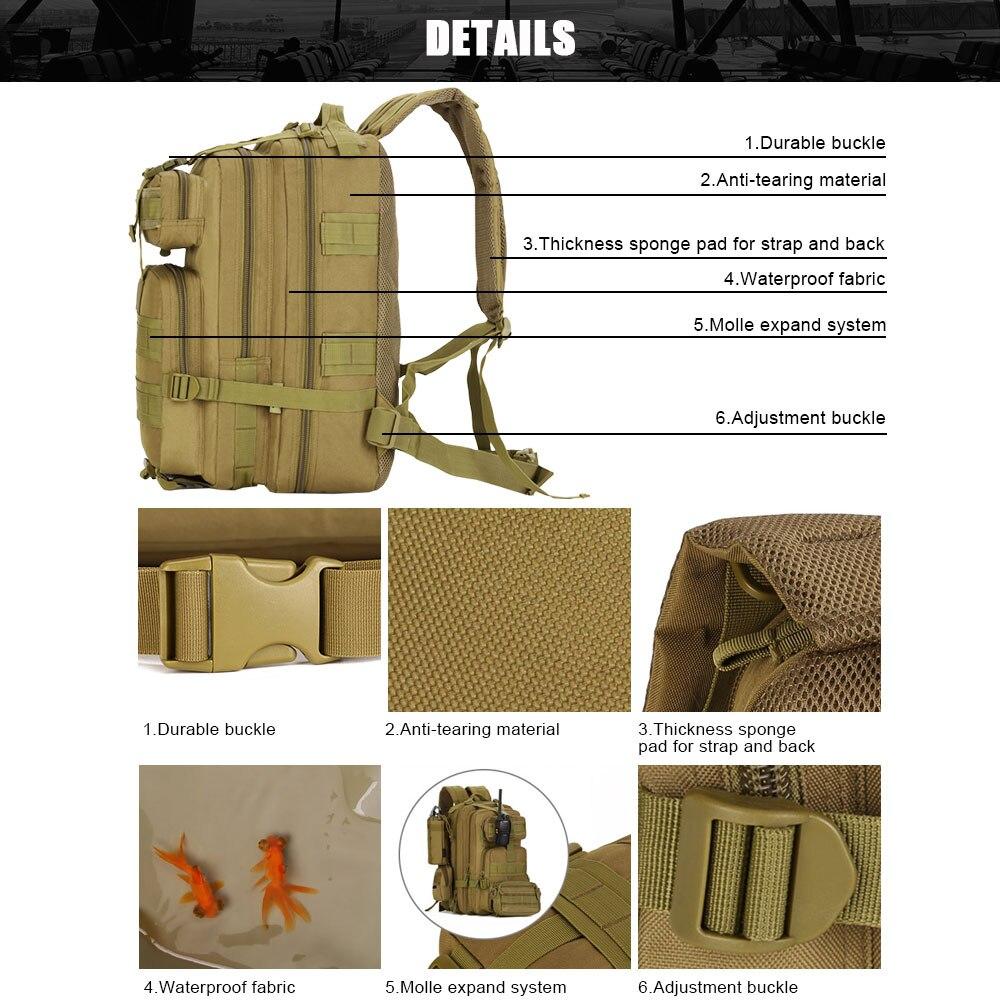 SINAIRSOFT 30L 40L 3P охотничий рыболовный Змеиный тактический рюкзак военный походный рюкзак спортивные туристические рюкзаки S410/S411 - 3