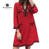 Красные платья для Для женщин 2018 летние кружевные платья трапециевидной формы вечерние платье элегантный роскошная женская одежда