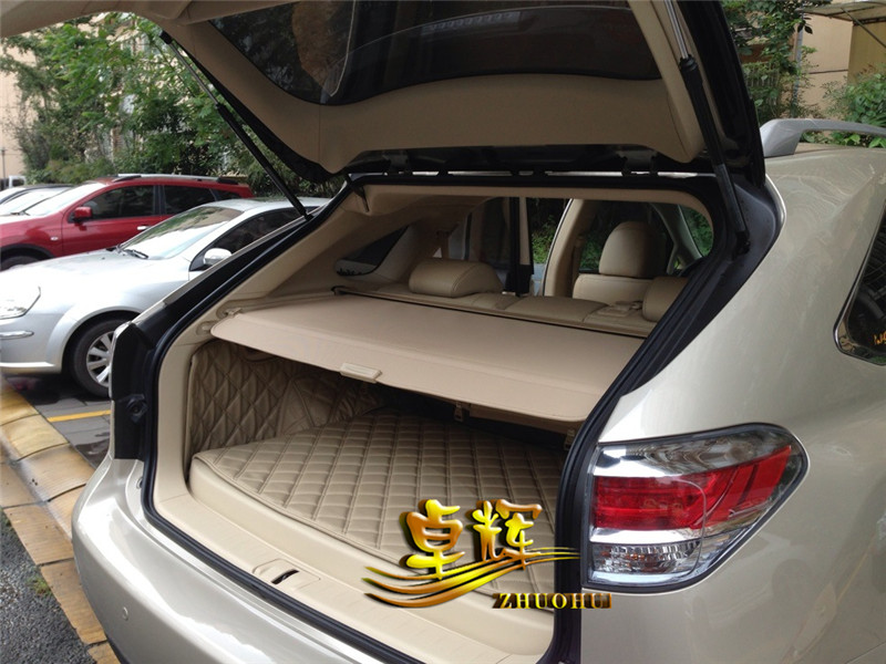 Car Rear Trunk Security Shield Shade Cargo Cover For LEXUS RX270 RX350 2009 2010 2011 2012 2013 2014 2015 (Black beige) car rear trunk security shield shade cargo cover for honda cr v crv 2012 2013 2014 2015 2016 2017 black beige
