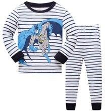 Купить с кэшбэком Children's Pajamas Set Boys Batman Cotton Animal Sleepwear Long-sleeved Good Quality Kids Pajamas Suit