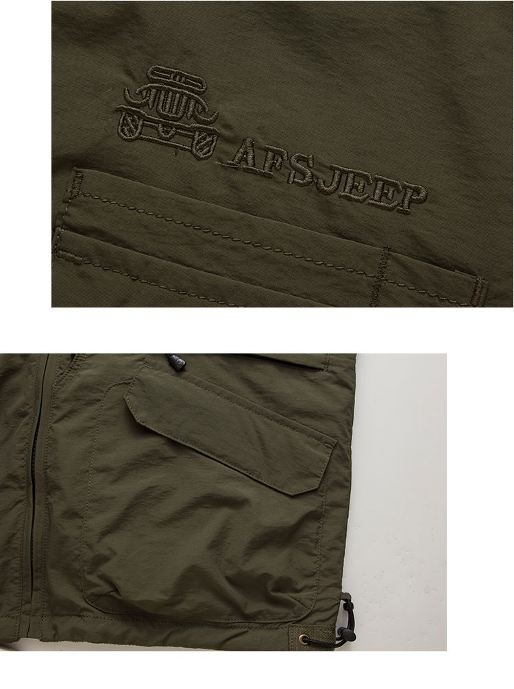 2015 Autumn Spring Casual Men Vest Coat Fleece AFS JEEP Cotton Multi Pocket 4XL Cargo Outdoor Sleeveless Jackets Waistcoat Vests (14)