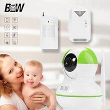 Wifi IP Camera Motion Sensor P2P Security System Camera Motion Detection CCTV HD Camera + PIR Motion Sensor/Gas Detector BW12GR