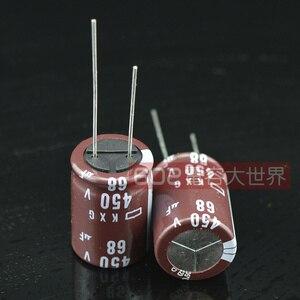 Image 2 - 2020 горячая распродажа 20 шт/50 шт Япония NIPPON электролитический конденсатор 450v68uf 68 мкФ 450v KXG серии 18*25 Бесплатная доставка