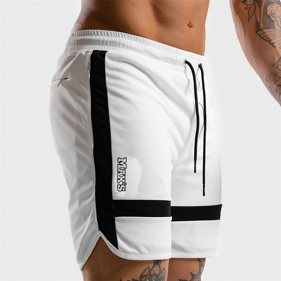 Men Sports   Short   Pants summer black white casual 2019 Training Bodybuilding Summer   Shorts   Workout Fitness GYMS   Short   Pants