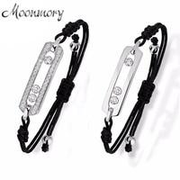 France Popular Style Bracelet Movable Stone And Adjustable Length Real 925 Sterling Silver Bracelets For Women