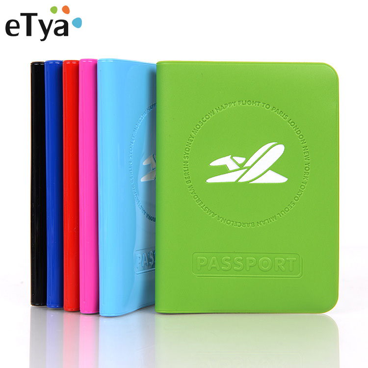 ETya Travel Women Men PVC Passport Holder ID Card Bag Protective Card Ticket Organizer Multifunction Passport Cover Wallet Hot