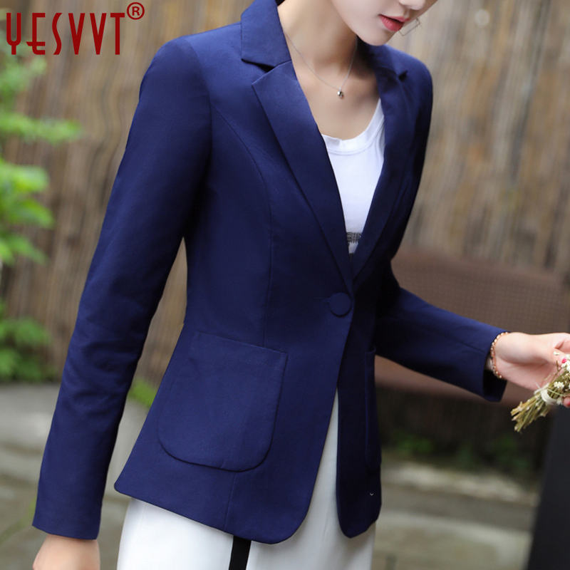 yesvvt autumn women blazers and jackets 2017 full sleeve blazer women blue leisure blaze ...