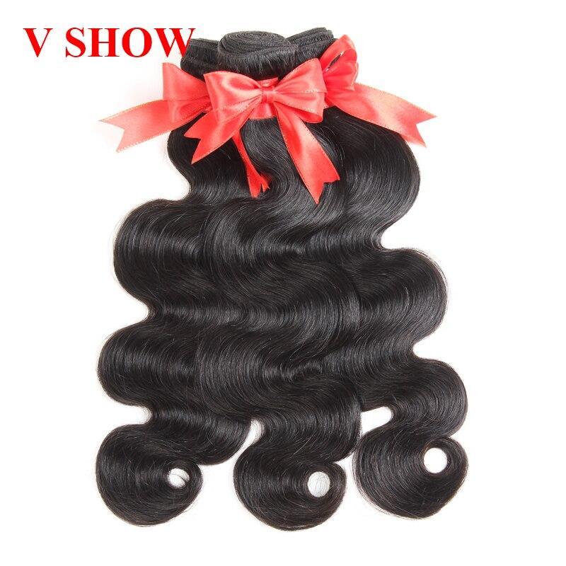 3 Bundles Malaysian Body Wave Hair Bundles 100% Human Hair Weave Bundles VSHOW Hair Extension Remy Hair Weaving Natural Color