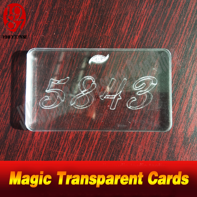 Real life room escape props Magic Transparent Cards find out four transparent cards and pile the cards up to get some game clues